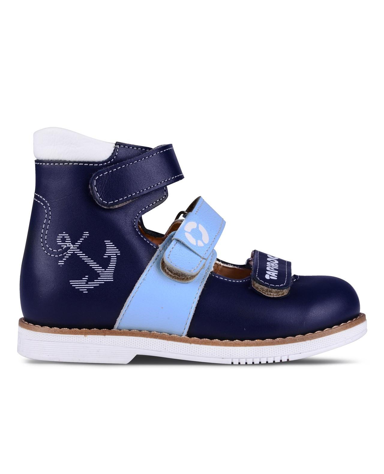 Сандалии Детские, Tapiboo Глубина (48769, 23 )Сандалии<br>Эти ортопедические туфли разработаны для <br>коррекции стоп при вальгусной деформации, <br>а также для профилактики плоскостопия. <br>Применение данной модели рекомендовано <br>детям при наличии сформировавшихся деформаций. <br>При применении данной обуви необходимо <br>использование индивидуальных ортопедических <br>стелек по назначению врача-ортопеда. Жесткий <br>фиксирующий задник увеличенной высоты <br>и возможность регулировки полноты тремя <br>застежками велкро обеспечивают необходимую <br>фиксацию голеностопа в правильном положении. <br>Широкий, устойчивый каблук, специальной <br>конфигурации каблук Томаса. Подкладка из <br>кожи теленка без швов. Кожа теленка обладает <br>повышенной износостойкостью в сочетании <br>с мягкостью и отличной способностью пропускать <br>воздух для создания оптимального температурного <br>режима (нога не потеет). На стельке нет выкладки <br>продольного свода (супинатора), модель предназначена <br>для использования с вкладными ортопедическими <br>приспособлениями.<br>Размер INT: M; Цвет: Красный; Ширина: 100; Высота: 200; Вес: 1000;