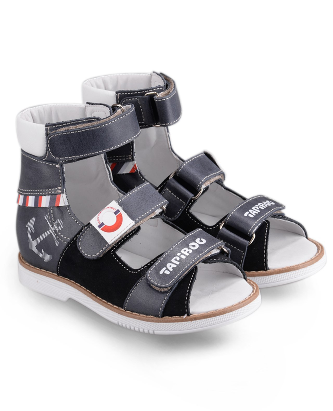 Сандалии Детские, Tapiboo Венге (44093, 26 )Сандалии<br>Эти ортопедические сандалии разработаны <br>для коррекции стоп при вальгусной деформации, <br>а также для профилактики плоскостопия. <br>Применение данной модели рекомендовано <br>детям при наличии сформировавшихся деформаций. <br>При применении данной обуви рекомендуется <br>использование индивидуальных ортопедических <br>стелек по назначению врача-ортопеда. Жесткий <br>фиксирующий задник увеличенной высоты <br>и возможность регулировки полноты тремя <br>застежками «велкро» обеспечивают необходимую <br>фиксацию голеностопа в правильном положении. <br>Широкий, устойчивый каблук, специальной <br>конфигурации «каблук Томаса». Каблук продлен <br>с внутренней стороны до середины стопы, <br>предотвращает вращение (заваливание) стопы <br>вовнутрь (пронационный компонент деформации, <br>так называемая косолапость, или вальгусная <br>деформация). Подкладка из кожи теленка без <br>швов. Кожа теленка обладает повышенной <br>износостойкостью в сочетании с мягкостью <br>и отличной способностью пропускать воздух <br>для создания оптимального температурного <br>режима (нога не потеет). Отсутствие швов <br>на подкладк<br>Размер INT: M; Цвет: Красный; Ширина: 100; Высота: 200; Вес: 1000;