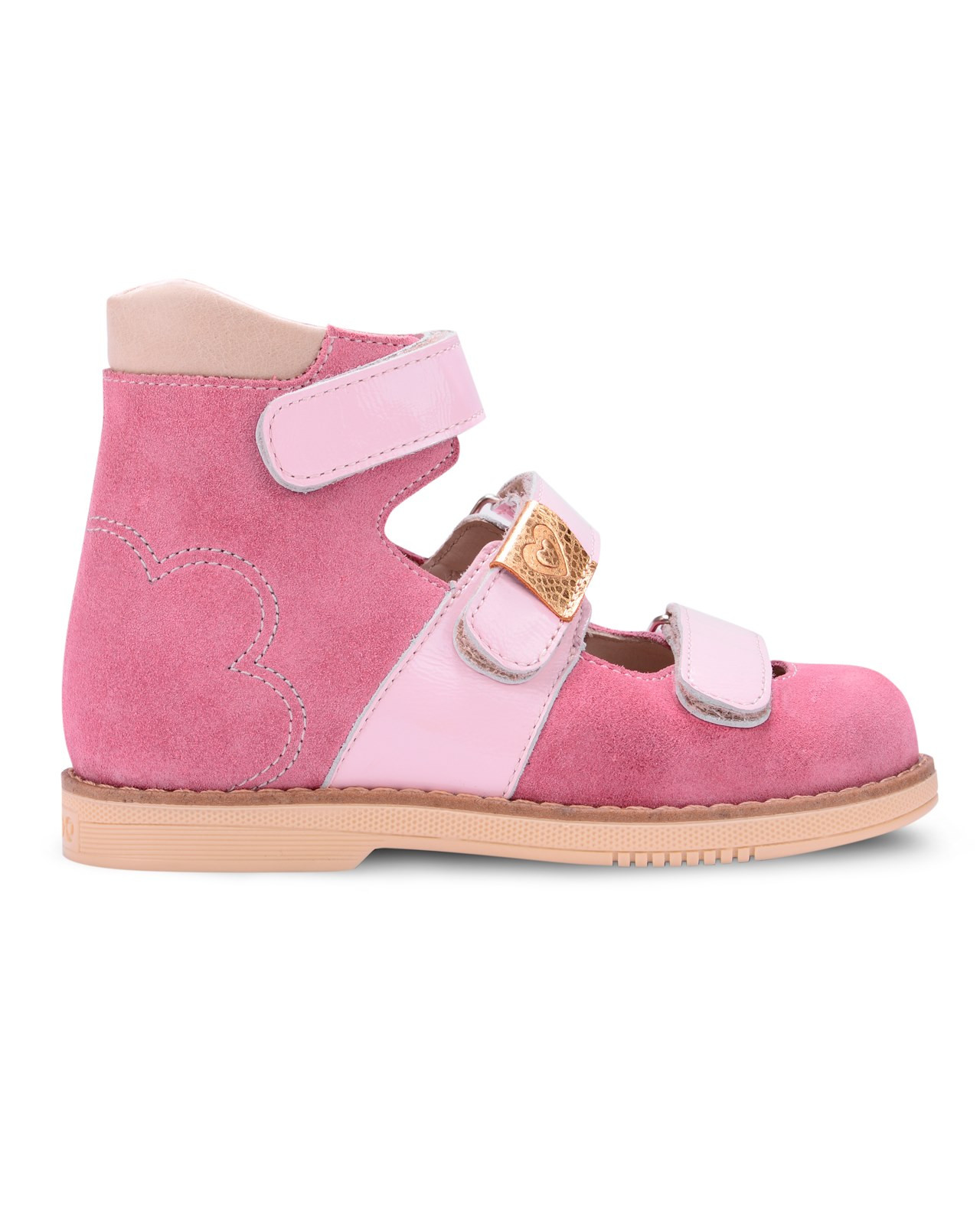 Сандалии Детские, Tapiboo Кораллы (48760, 24 )Сандалии<br>Эти ортопедические туфли разработаны для <br>коррекции стоп при вальгусной деформации, <br>а также для профилактики плоскостопия. <br>Применение данной модели рекомендовано <br>детям при наличии сформировавшихся деформаций. <br>При применении данной обуви необходимо <br>использование индивидуальных ортопедических <br>стелек по назначению врача-ортопеда. Жесткий <br>фиксирующий задник увеличенной высоты <br>и возможность регулировки полноты тремя <br>застежками велкро обеспечивают необходимую <br>фиксацию голеностопа в правильном положении. <br>Широкий, устойчивый каблук, специальной <br>конфигурации каблук Томаса. Подкладка из <br>кожи теленка без швов. Кожа теленка обладает <br>повышенной износостойкостью в сочетании <br>с мягкостью и отличной способностью пропускать <br>воздух для создания оптимального температурного <br>режима (нога не потеет). На стельке нет выкладки <br>продольного свода (супинатора), модель предназначена <br>для использования с вкладными ортопедическими <br>приспособлениями.<br>Размер INT: M; Цвет: Красный; Ширина: 100; Высота: 200; Вес: 1000;